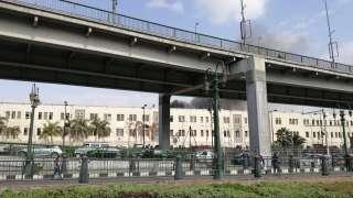الدفع بـ20 سيارة إطفاء لإخماد حريق محطة مصر