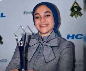"""«أمانة المرأة» بحزب """"المصريين"""" تهنئ أصغر مهندسة مصرية تفوز بجائزة «ستيفى»"""